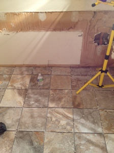 New bathroom natural stone flooring