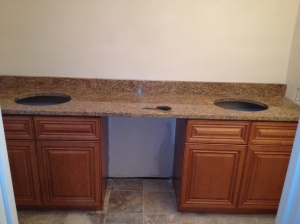 New cabinets and Granite vanity top Install