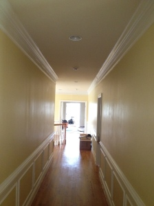 Semi-gloss painted hallway