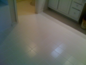 New bathroom tile flooring