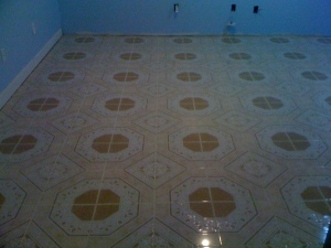 New Porcelain tile flooring